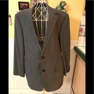 Hugo Boss Wool, Men's Gray Suit 46R